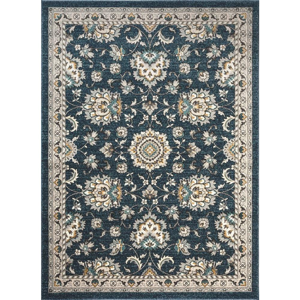 Tayse Rugs Kensington Navy 7 Ft 10 In X 10 Ft 3 In