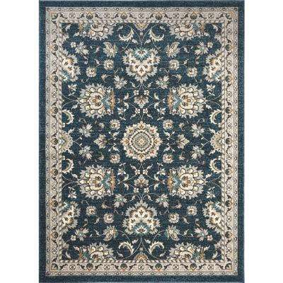 Kensington Navy 7 ft. 10 in. x 10 ft. 3 in. Indoor Area Rug