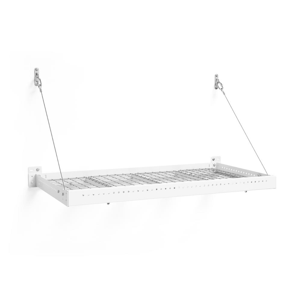 NewAge Products Pro Series 2 ft. x 4 ft. Wall Mounted Steel Shelf in White was $139.99 now $94.99 (32.0% off)