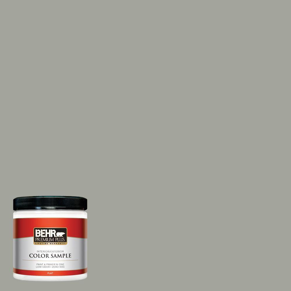 BEHR Premium Plus 8 oz. #N380-4 Strong Winds Interior/Exterior Paint Sample