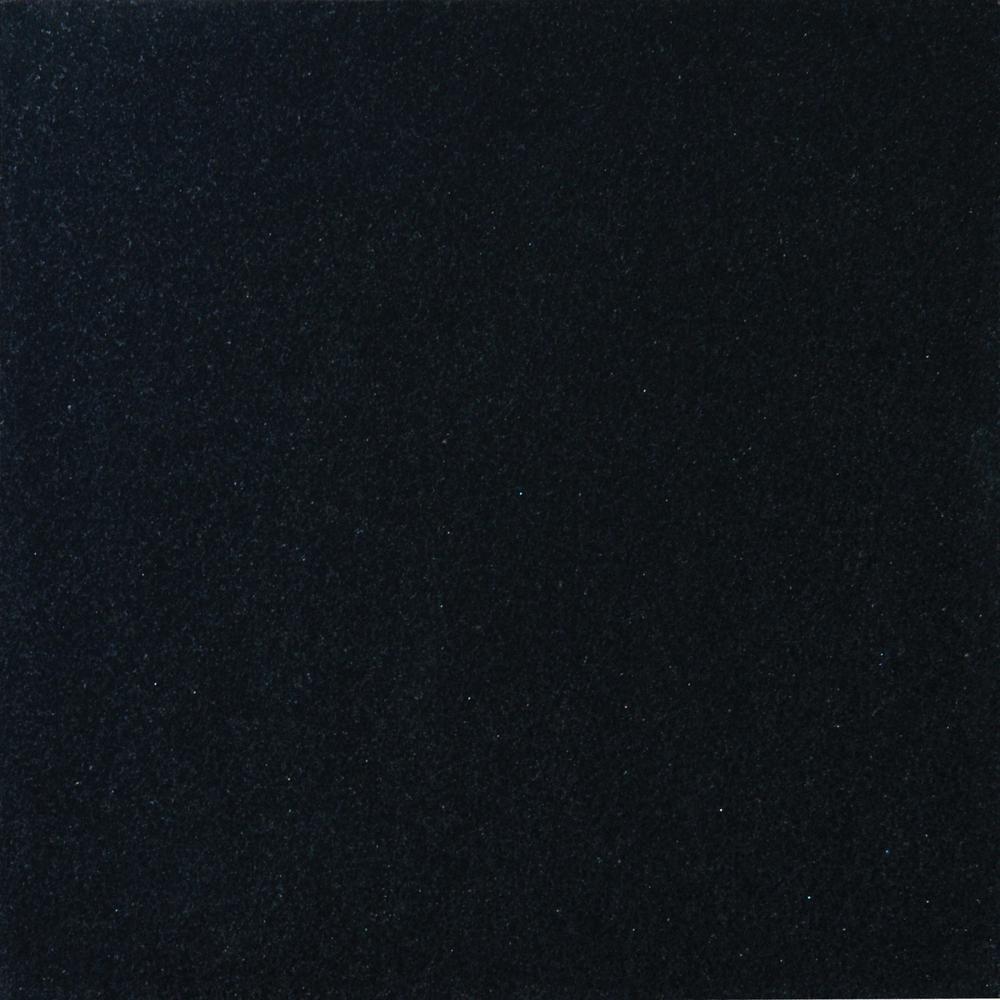 Absolute Black 12 in. x 12 in. Honed Granite Floor and