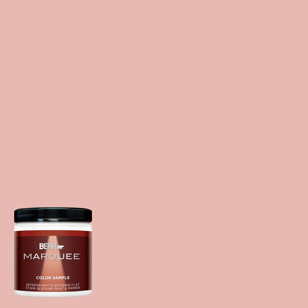 BEHR MARQUEE 8 oz. #MQ4-04 Noble Blush Matte Interior/Exterior Paint ...