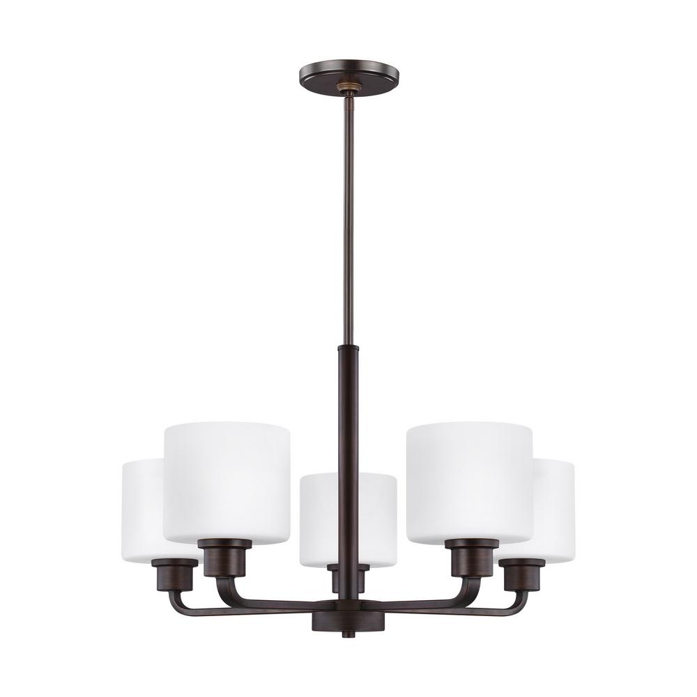 Canfield 5-Light Burnt Sienna Chandelier