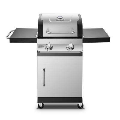 Premier 2-Burner Natural Gas Grill in Stainless Steel with Built-In Thermometer