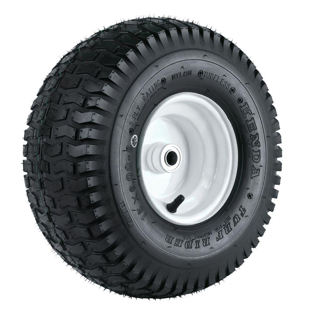 Martin Wheel K358 15X600-6 Tire Mounted on 6 in. Wheel wi...