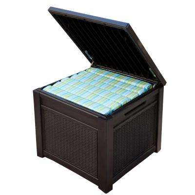 55 Gal. Resin Rattan Storage Cube Deck Box