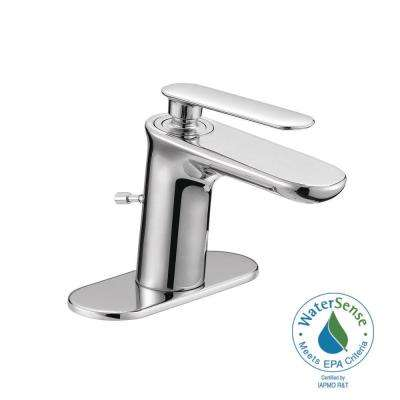Carmine 4 in. Centerset 1-Handle High-Arc Mono Block Bathroom Faucet in Chrome