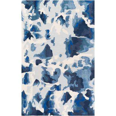 Geology Lillian Royal Blue 4 ft. x 6 ft. Indoor Area Rug