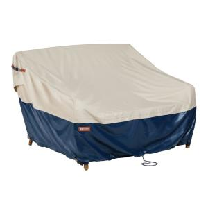 Mainland 88 in. W x 40 in. D x 34 in. H Deep Loveseat Patio Cover