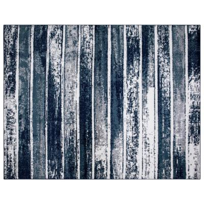 Montvale Collection Stripes Teal 7 ft. 8 in. x 9 ft. 8 in. Area Rug