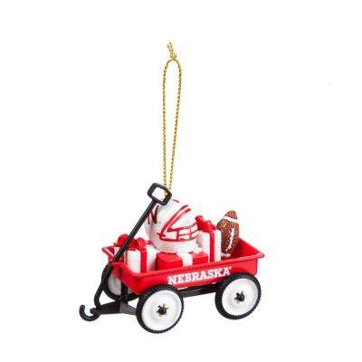 University of Nebraska 1-3/4 in. NCAA Team Wagon Christmas Ornament