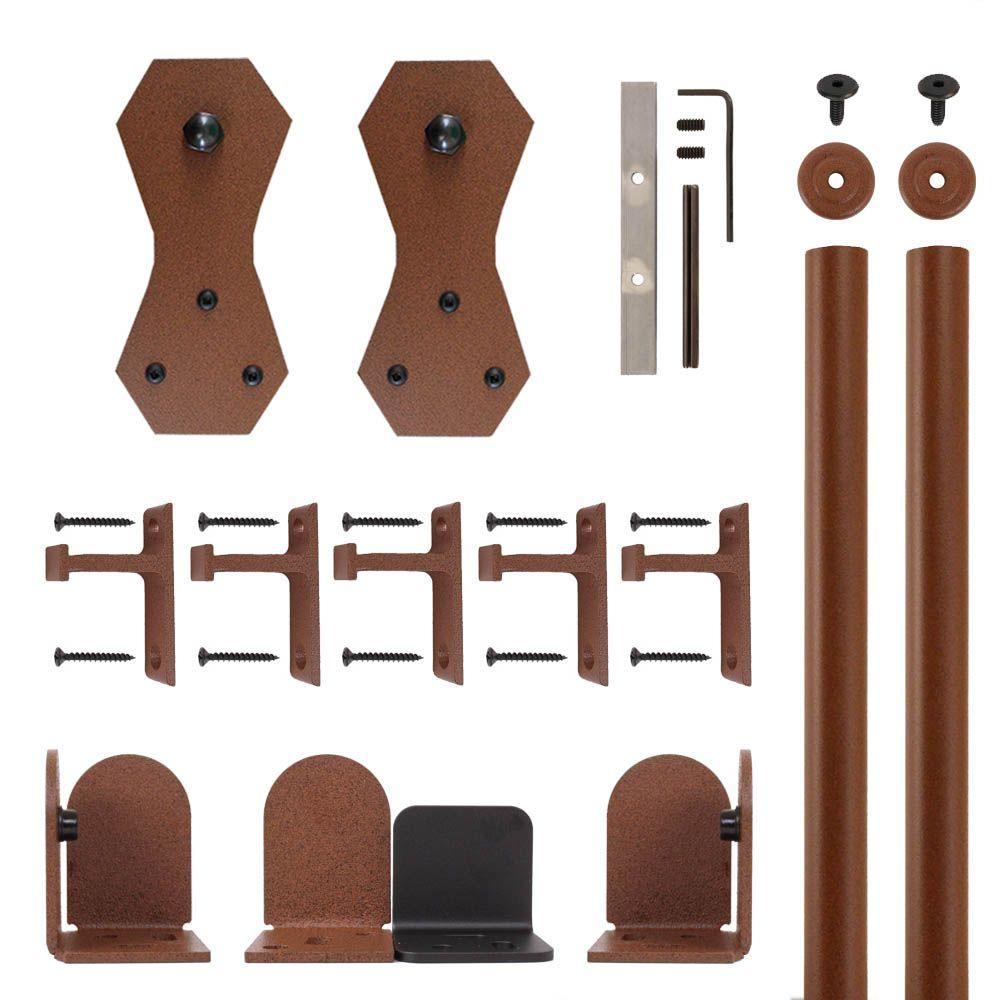 Castle 2 New Age Rust Rolling Door Hardware Kit for 1-1/2