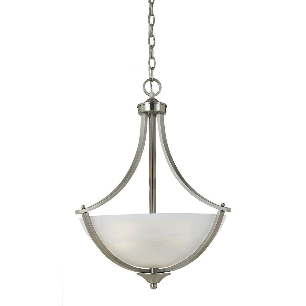 Lampu 3-Light Satin Nickel Pendant