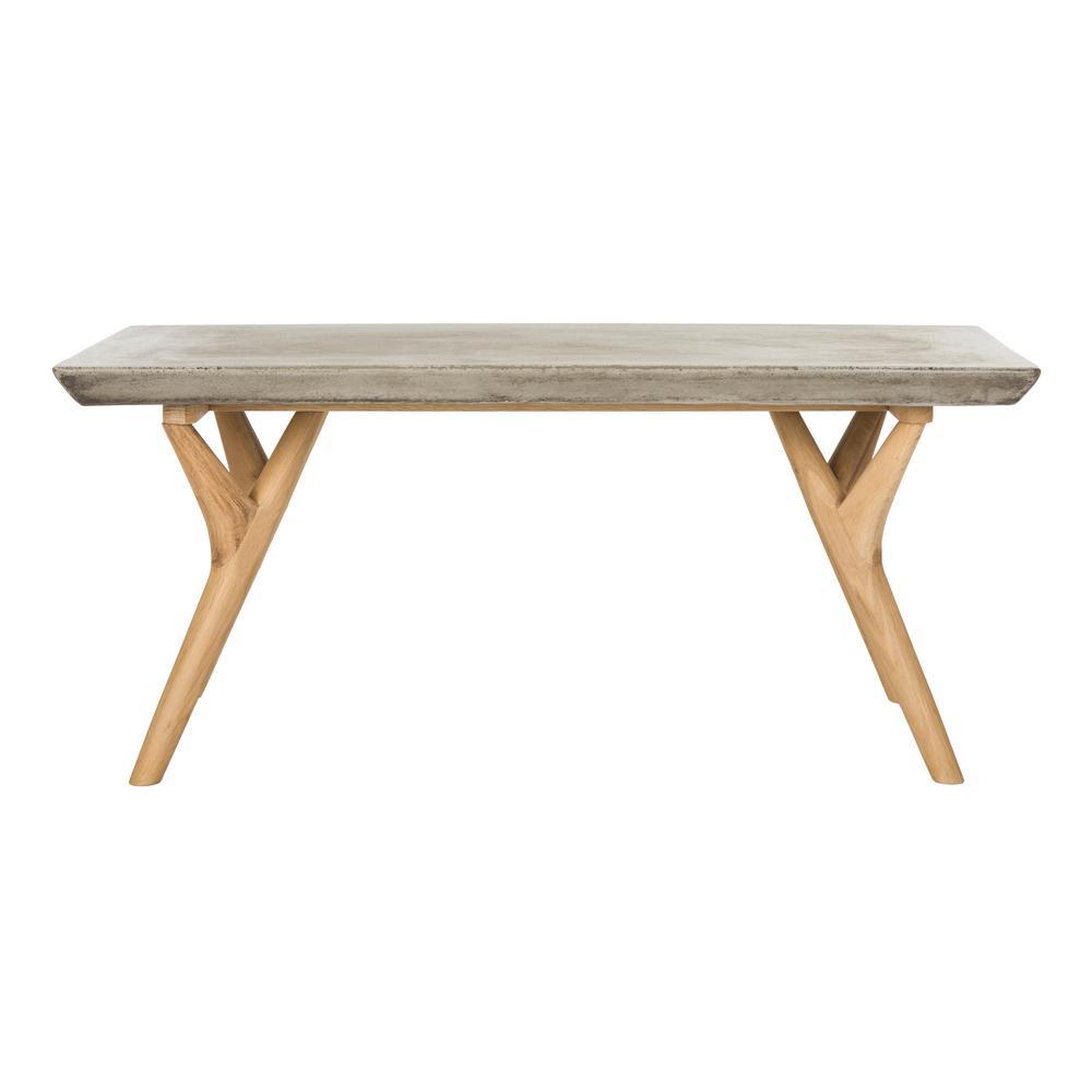Safavieh Pacey Dark Gray Stone Indoor/Outdoor Coffee Table