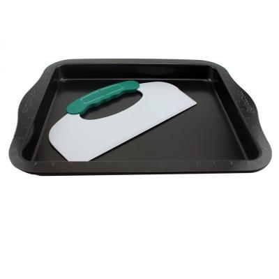 Perfect Slice Carbon Steel Cookie Sheet with Cutting Tool