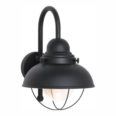 Sebring Black Outdoor 15.75 in. Integrated LED Wall Lantern Sconce