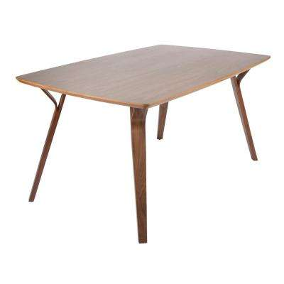 Folia Rectangular Walnut Wood Dining Table