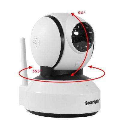 DIY Wireless/Wired IP Pan-Tilt Indoor iSecurity Camera with SD Recorder