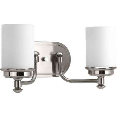 Glide Collection 2-light Brushed Nickel Bath Light