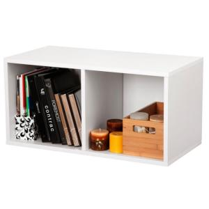 Internet 204392620 Foremost 30 In White Large Divided Cube