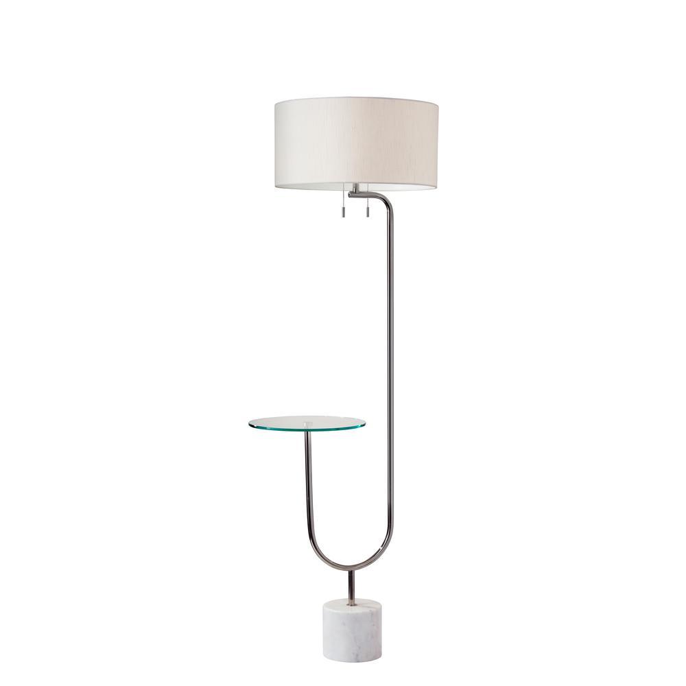 Sloan 65 in. Nickel Floor Lamp