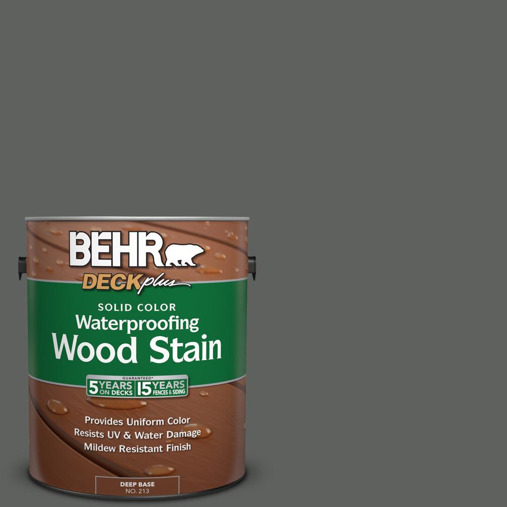 1 gal. #N460-6 Hematite Solid Color Waterproofing Wood Stain