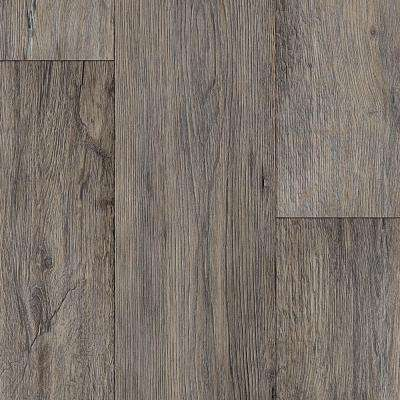 Barnwood Oak Grey 13.2 ft. Wide x Your Choice Length Residential Vinyl Sheet Flooring