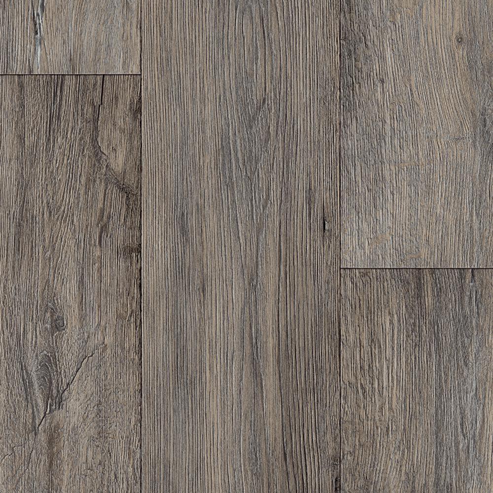 Barnwood Oak Grey Wood Residential Vinyl Sheet Flooring 13.2 ft. Wide x Cut to Length