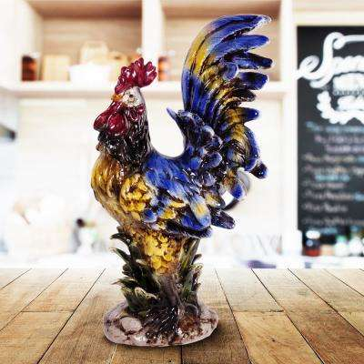 23 in. Ceramic Rooster Figure