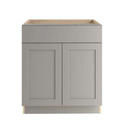 Cambridge Assembled 30x34.5x24 in. Base Cabinet with Soft Close Full Extension Drawer in Gray