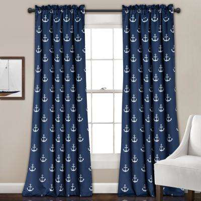 Anchor Juvy Window Panel Navy - 84 in. x 52 in.