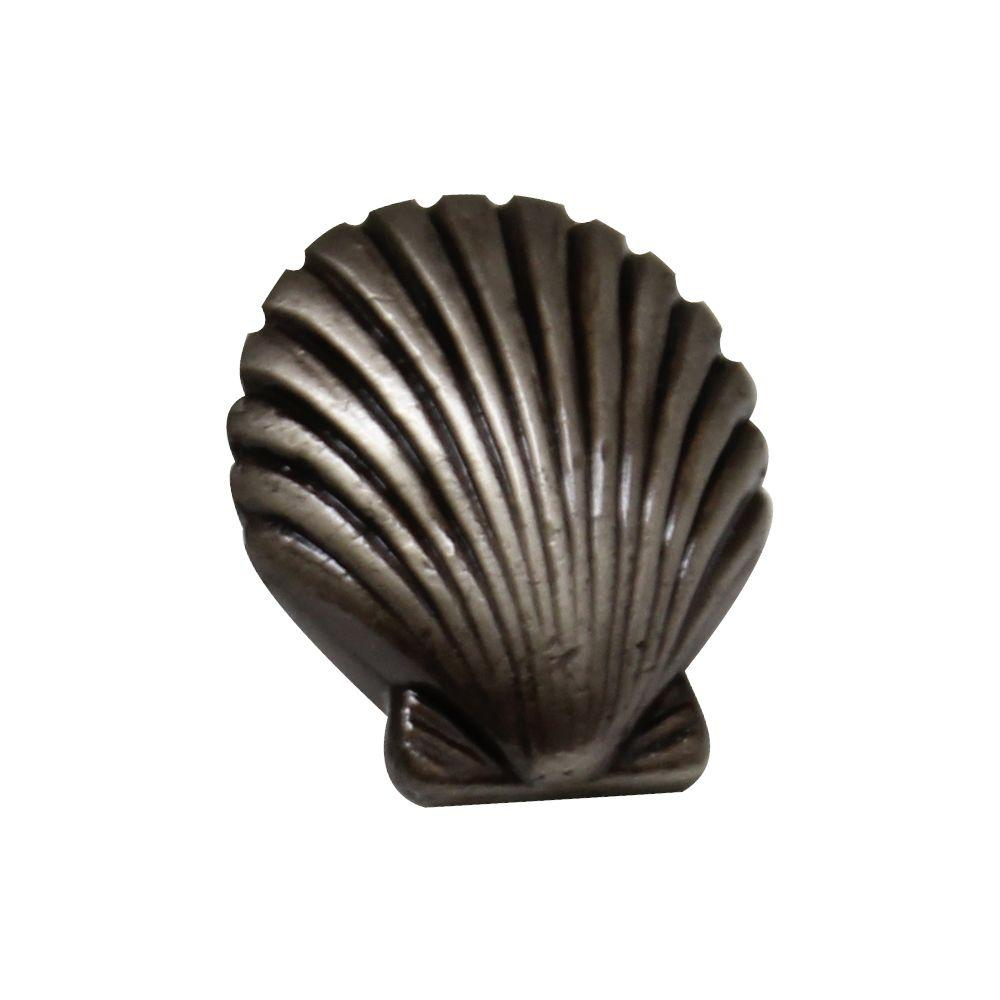 Marvelous Pewter Seashell Cabinet Hardware Knob WH106   The Home Depot
