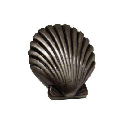 1-3/8 in. Pewter Seashell Cabinet Hardware Knob