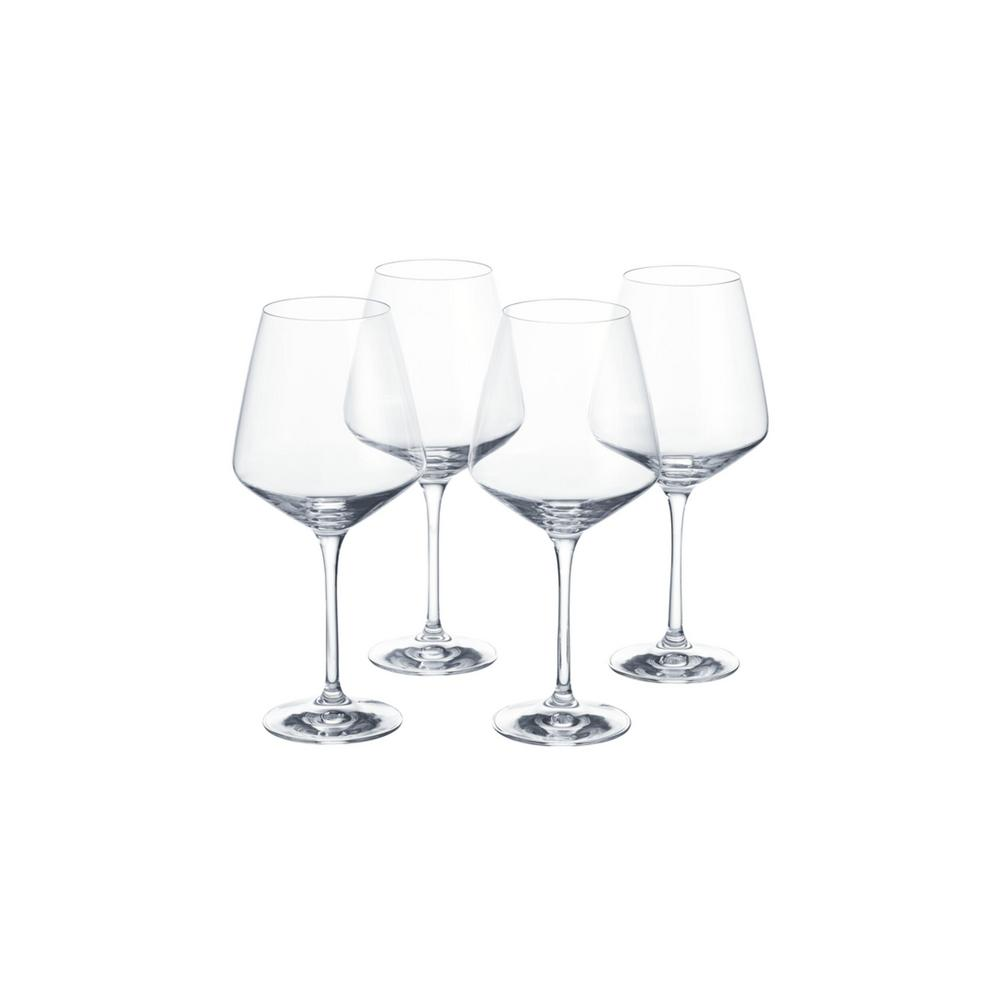 HomeDecoratorsCollection Home Decorators Collection Genoa 26.5 fl. oz. Lead-Free Crystal Red Wine Glasses (Set of 4)