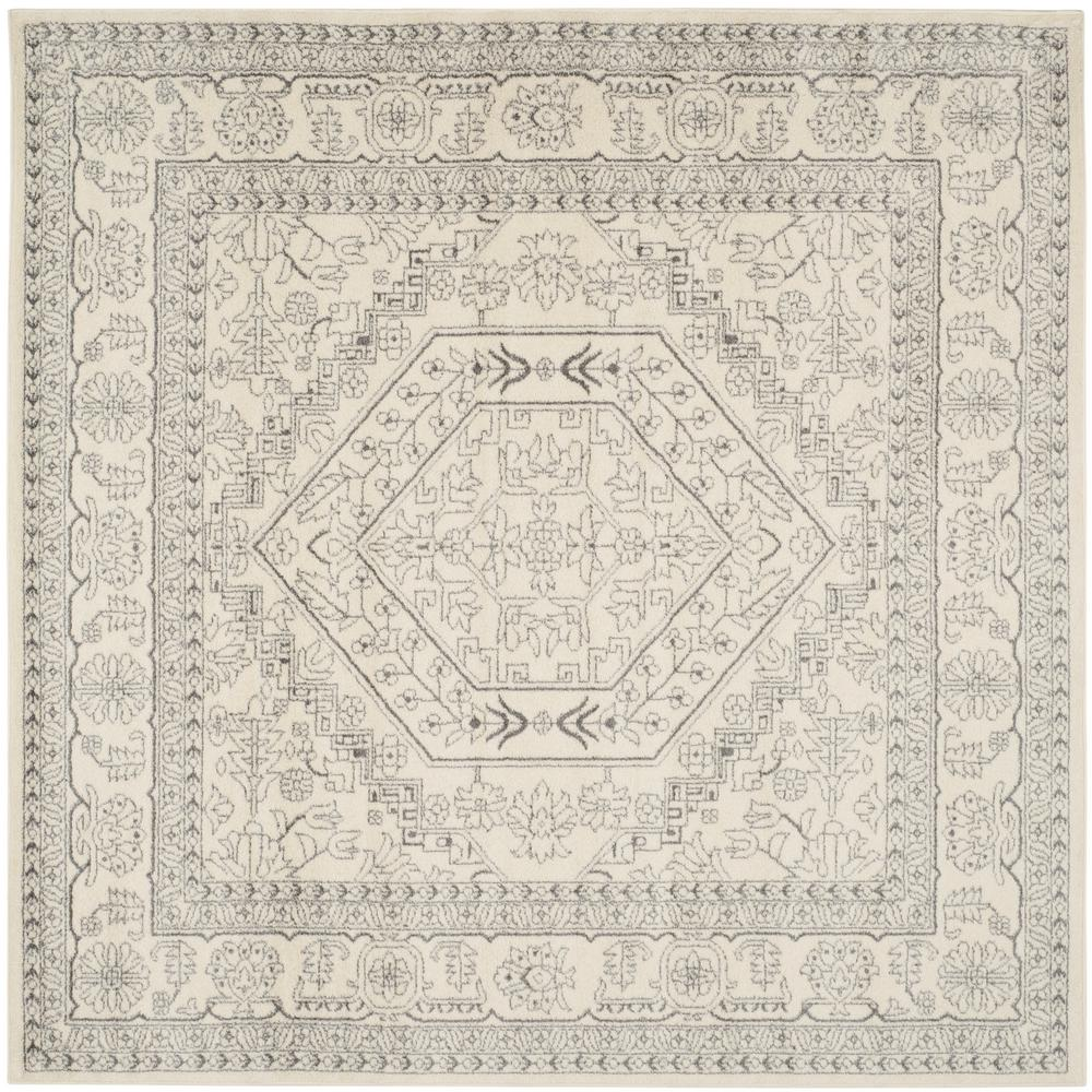 Safavieh Adirondack Ivory Silver 9 Ft X 9 Ft Square Area