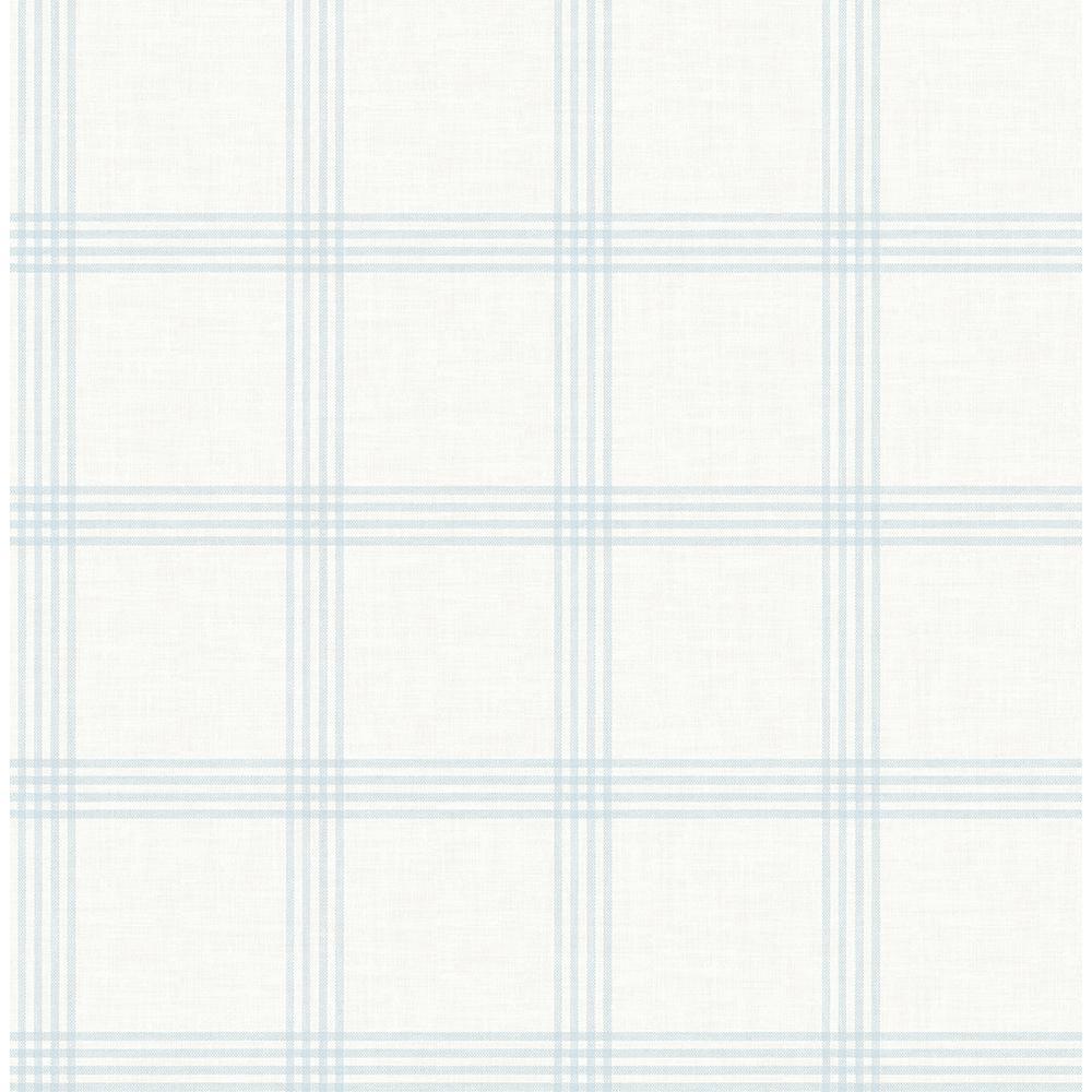 Twain Light Blue Plaid Strippable Roll (Covers 56.4 sq. ft.)