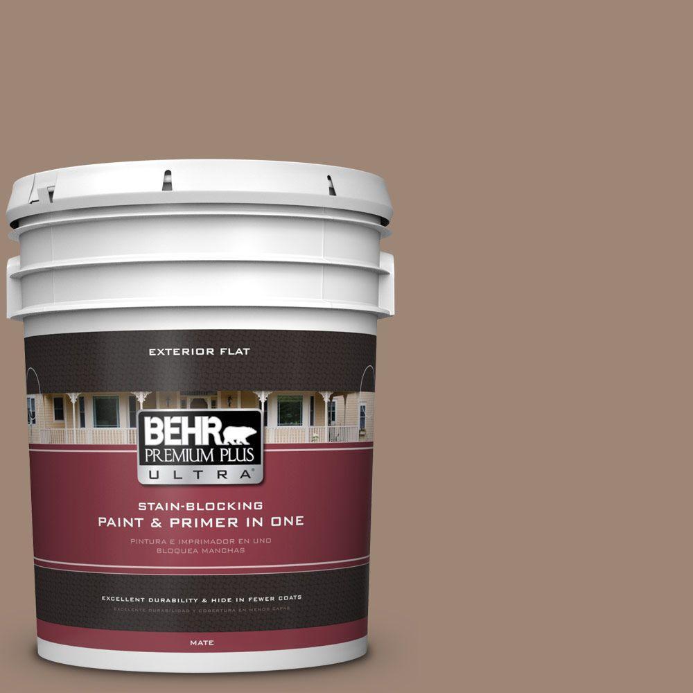 BEHR Premium Plus Ultra 5-gal. #PPU5-16 Earthnut Flat Exterior Paint