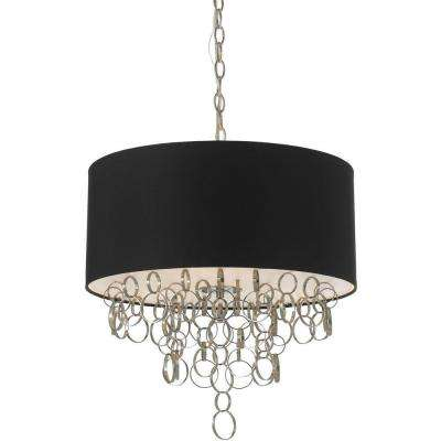 8429 3-Light Nickel Pendant