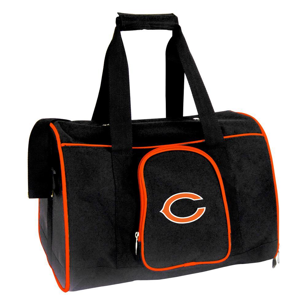 NFL Chicago Bears Pet Carrier Premium 16 in. Bag in Orange