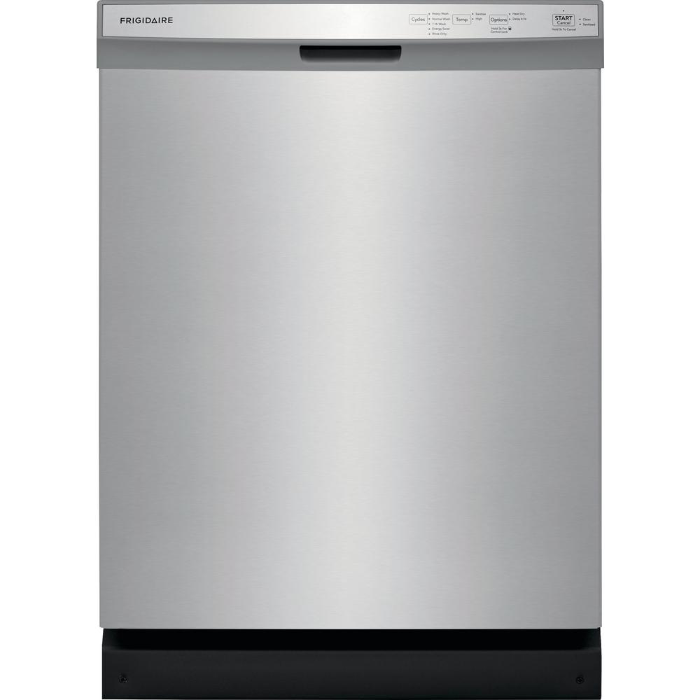 Frigidaire 24 in. Built-In Front Control Tall Tub Dishwasher in Stainless Steel, 55 dBA