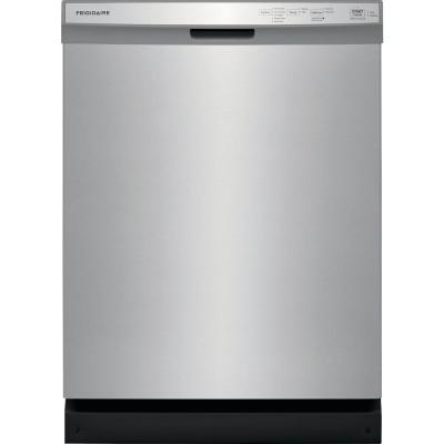 24 in. Built-In Front Control Tall Tub Dishwasher in Stainless Steel, 55 dBA