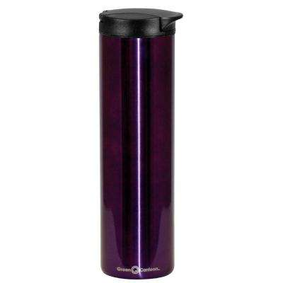 16 oz. Purple Double Wall Stainless Steel Travel Mug (6-Pack)