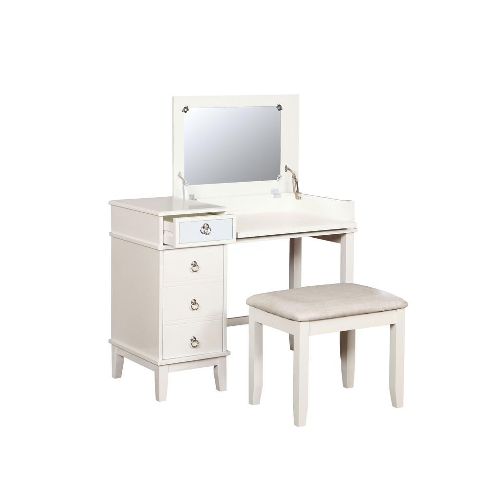 Eve 2-Piece White Vanity Set