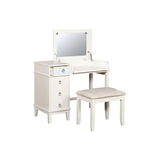 Eve 2-Piece White Vanity Set