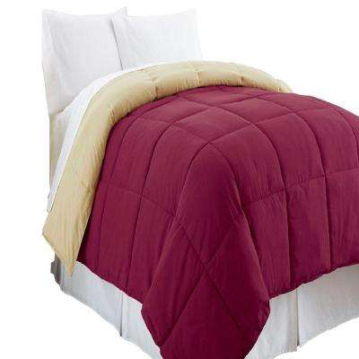 Reversible Anemone/Wheat Down Alternative Twin Comforter