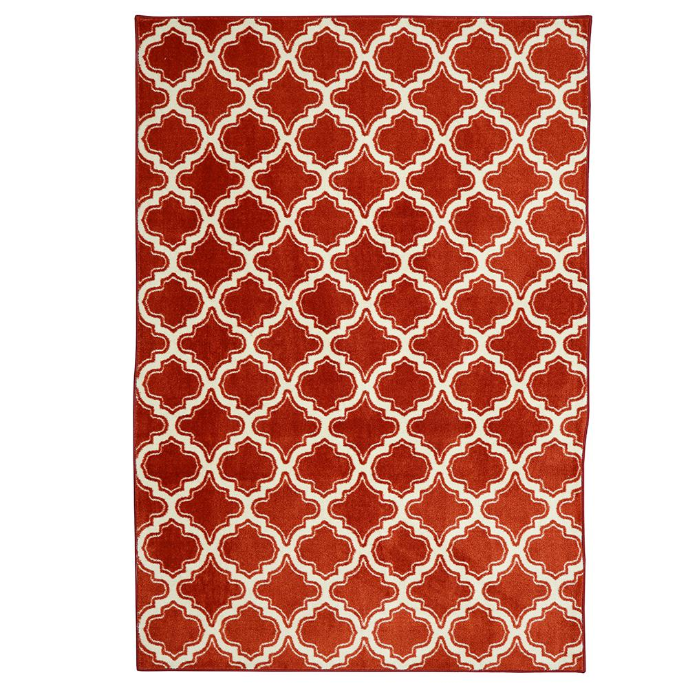 Calabasas Uno Red 8 ft. x 10 ft. Area Rug