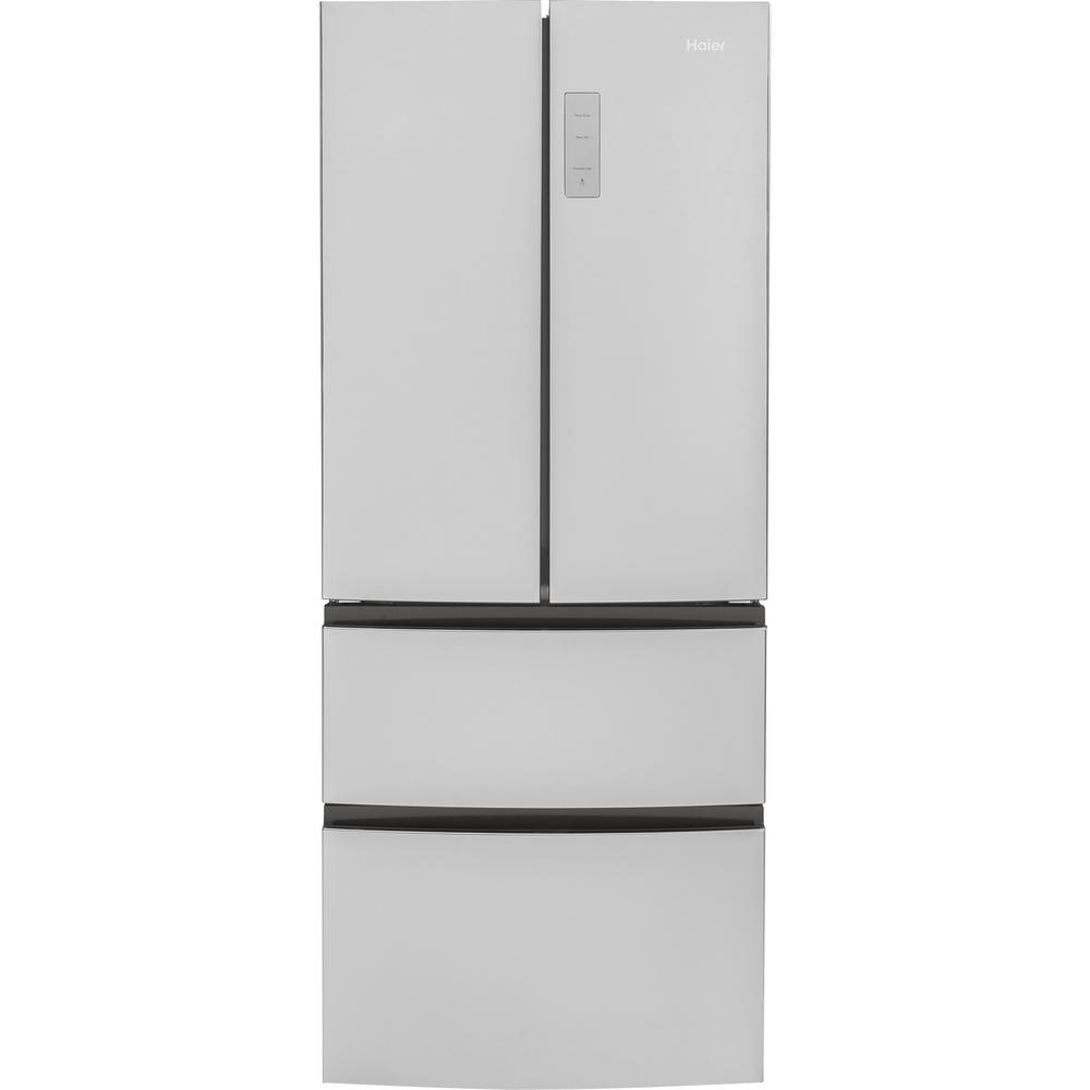 28 in. W 15 cu. ft. French Door Refrigerator in Stainless