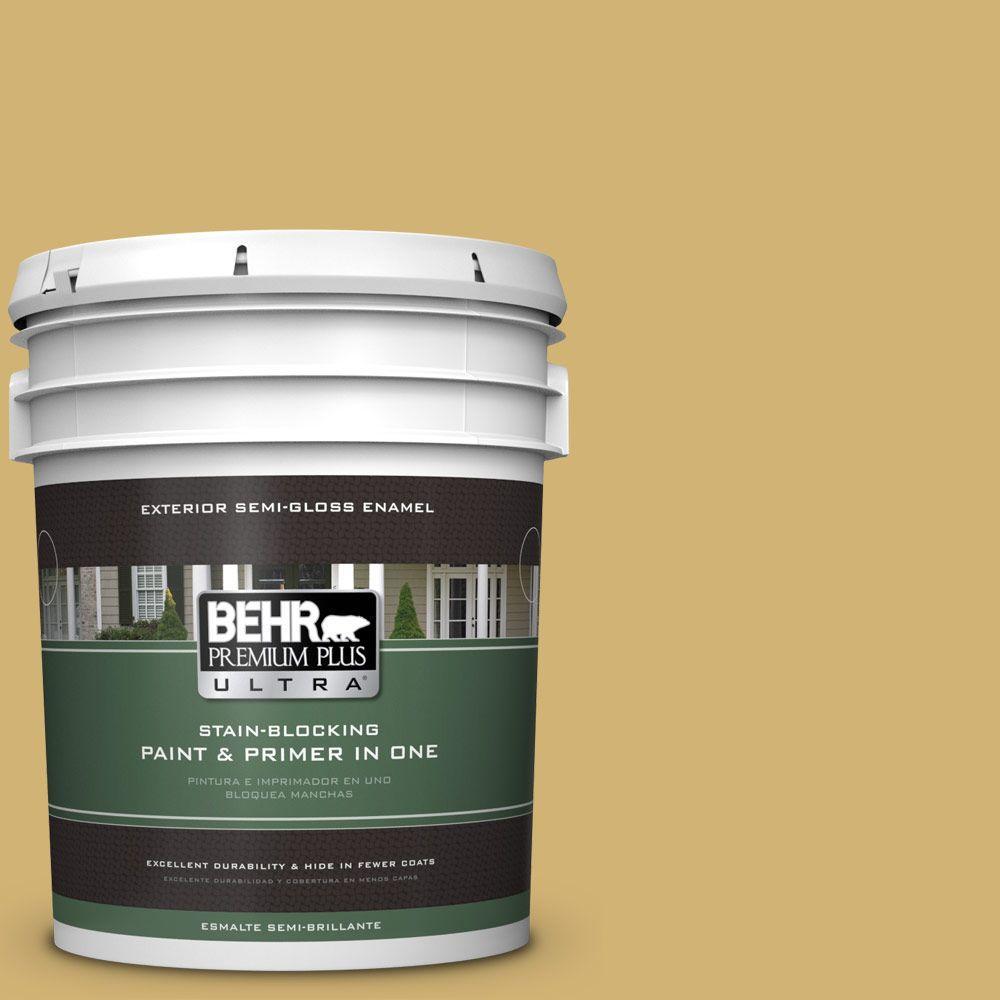 5-gal. #M320-5 Dried Chamomile Semi-Gloss Enamel Exterior Paint