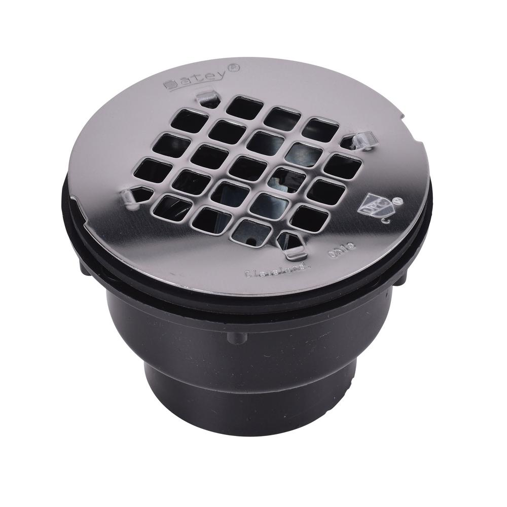 Oatey Oatey Abs Shower Drain With Round 4 1 4 In Stainless Steel