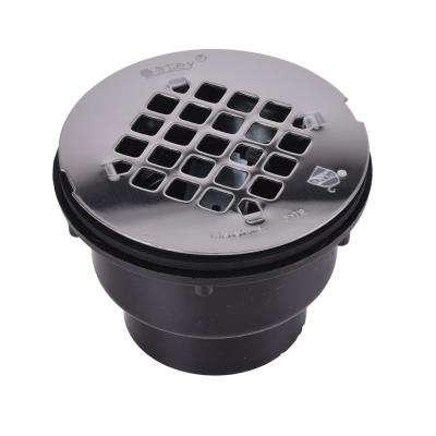 Oatey ABS Shower Drain with Round 4-1/4 in. Stainless Steel Strainer
